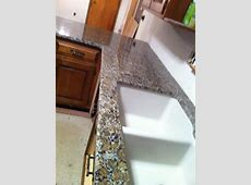 Ferro Gold Granite countertop with Granite composite sink