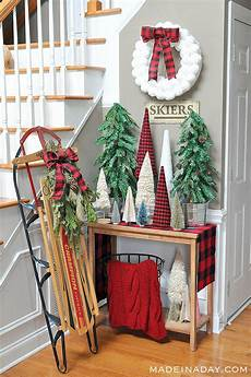 Buffalo Plaid Decorations by Winter Snowball Wreath Made In A Day