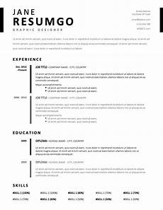 timo simple stylish resume template resumgo com