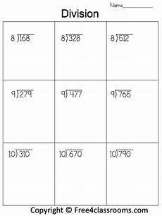 free math worksheets division no remainders 6861 free division worksheet 3 digit by 1 digit no remainder free4classrooms