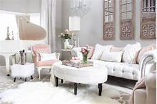 Pink And White Living Room Decor