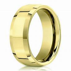 6mm 18k yellow gold beveled edge designer men s wedding ring justmensrings com