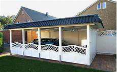 landhaus carport pfannen attika