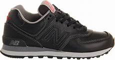 new balance 574 trainers in black for black leather