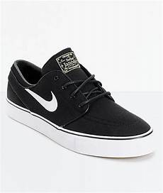 nike sb zoom stefan janoski black white canvas skate shoes