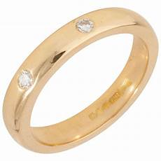 pre owned 18ct yellow gold 4mm diamond wedding ring