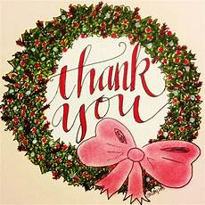 thank you note cards wreath