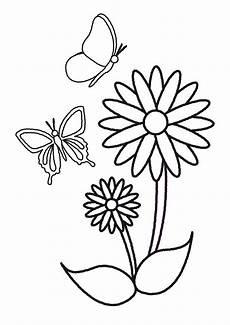 Ausmalbild Schmetterling Blume Plantillas De Flores Y Mariposas Para Colorear Mariposas