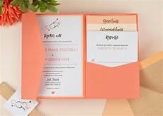 diy coral ombre pocket invitation cards pockets design idea blog