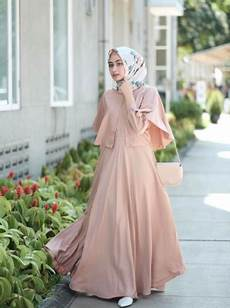 Inspirasi Model Gaun Kondangan Muslim Simple Elegan Dans