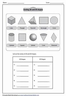 sorting out shapes shapes worksheets 3d shapes worksheets 2d 3d shapes
