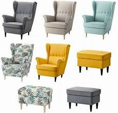 new ikea strandmon wing chair footstool many colours