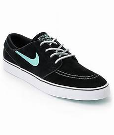nike sb zoom stefan janoski black mint suede shoes at