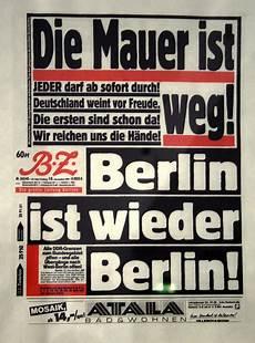 bild zeitung berlin die mauer ist weg heute vor 20 jahren fiel die berliner