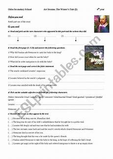 the winter s tale worksheets 20112 the winter 180 s tale part 2 esl worksheet by gaddeh