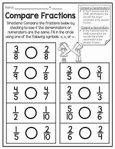 fraction worksheets numerator denominator 3899 comparing numerators and denominators freebie by barnard island tpt