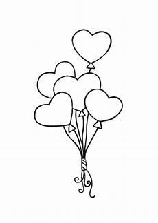 Valentinstag Malvorlagen Zum Ausdrucken Ausmalbild Luftballon Herzen Kostenlos Ausdrucken