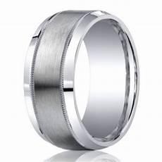 9mm designer argentium silver men s ring with milgrain