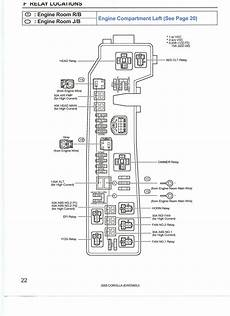 2005 toyota corolla fuse box diagram 2005 toyota corolla put 12 volts to black wire with tracer and grounded the wire with tracer