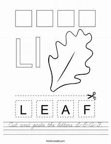 letter l worksheets cut and paste 23203 cut and paste the letters l e a f worksheet cursive twisty noodle