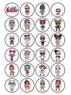 24 x edible personalised lol dolls icing stickers