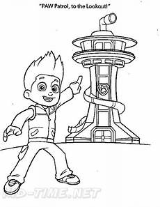 paw patrol look out free colouring pages