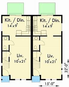 narrow lot duplex house plans plan 38006lb duplex for your narrow lot duplex plans