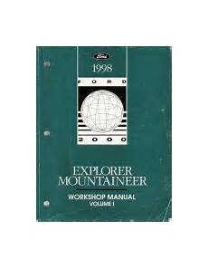 manual repair autos 1998 mercury mountaineer parental controls 1998 ford explorer mountaineer workshop manual 2 vol set