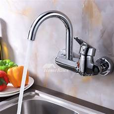 wall mount single handle kitchen faucet professional kitchen faucet wall mount chrome brass single handle