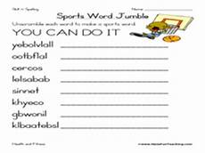 unscramble sports words worksheets 15892 sports word jumble worksheet for 4th 5th grade lesson planet