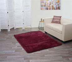 hochflor teppich shaggy teppich shaggy hochflor flauschig 160x120cm weinrot