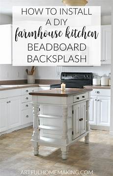 how to install a beadboard kitchen backsplash artful