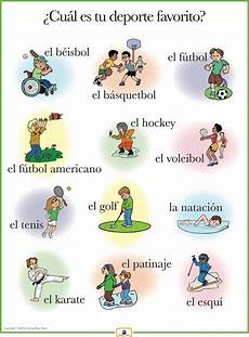 sport en espagnol list of sports in to translation