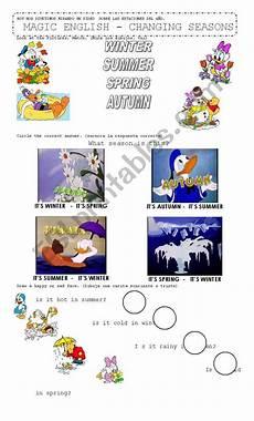 changing seasons worksheets 14779 changing seasons magic esl worksheet by mabelen