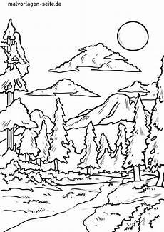 Malvorlagen Kostenlos Herunterladen Wald Ausmalbild Kinderbilder Kinderbilder