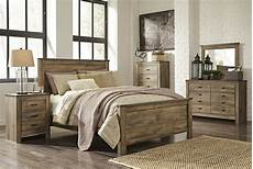 trinell queen rustic 6 piece bed furniture b446