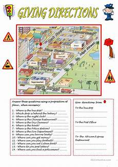 giving directions worksheets esl 11669 giving directions worksheet free esl printable worksheets made by teachers