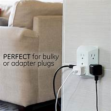 Bathroom Outlet Adapter by Ge 6 Outlet Wall Adapter Power Wide