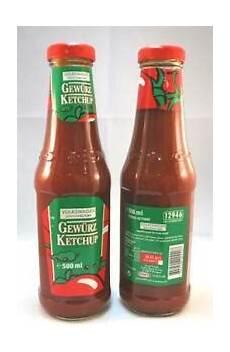 original volkswagen gew 252 rz ketchup 6 flaschen curry