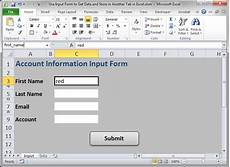 input form to get data and store it in another tab in excel teachexcel com