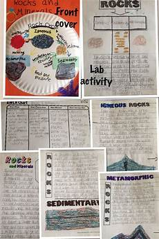 rocks and minerals notebooking lab activity 4th grade fourth grade science 4th grade science