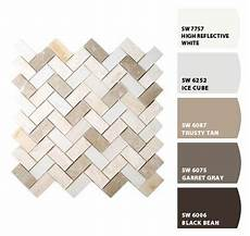 paint colors from colorsnap by sherwin williams to match with lowe s allen roth mosaic tile