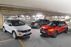 volkswagen t roc vs seat arona vs hyundai kona what car