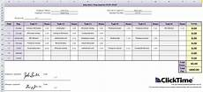 free excel time tracking template weekly timesheet clicktime