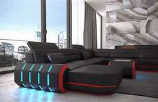 sofa led leather sectional sofa xl roma big cornersofa design couch