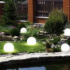 beleuchtung für den garten 6er set led solar kugel steck leuchten garten beleuchtung