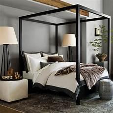 Schlafzimmer Schwarzes Bett - keating canopy bed in black