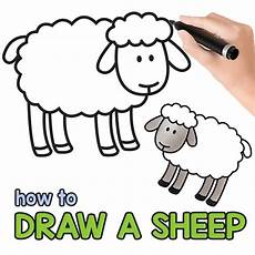 how to draw a sheep step by step sheep drawing tutorial