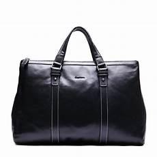 sac de voyage 48 h en cuir noir pour homme leopold