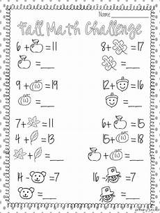 fall math worksheet classroom freebies